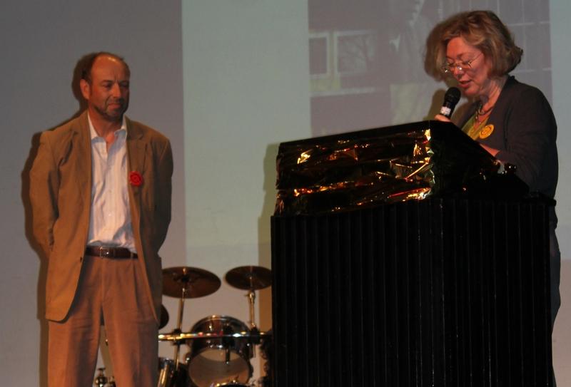 Andrea Frings (Direktorin) und Adalbert Schlag (ehemaliger Vorsitzender)
